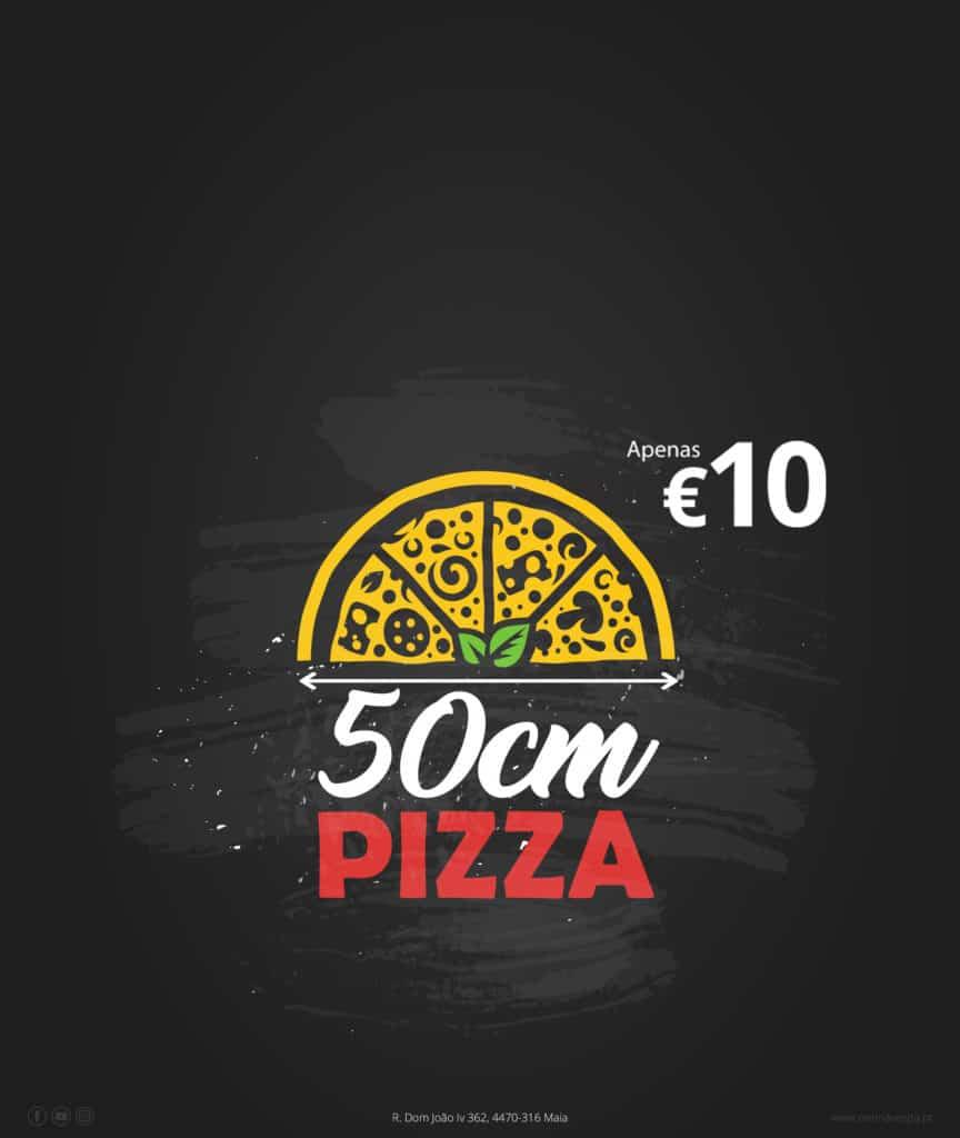 pizza 50 cm icon de pizza pizzaria gelado gelataria na cidade da maia porto portugal