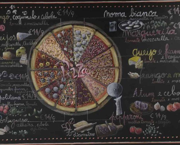 menu da pizzaria gelataria nonna vespa na cidade da maia porto portugal