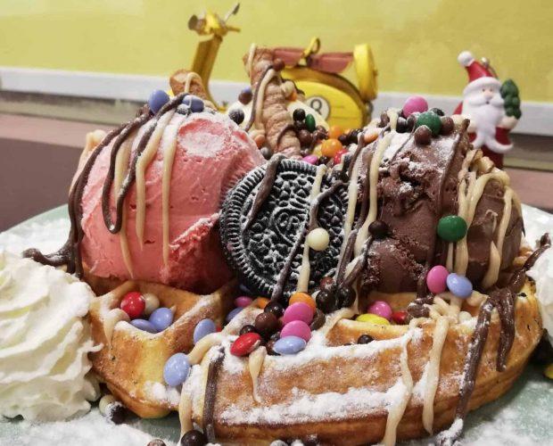 waffle belga da nonna vespa na cidade da maia porto portugal